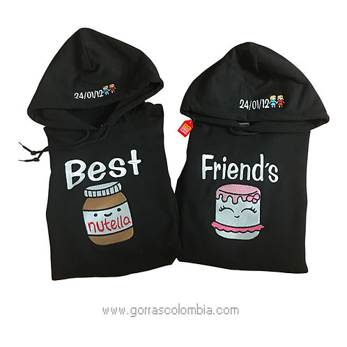 busos negros con capota para amigas nutella