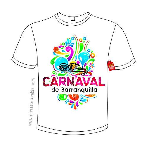 camiseta blanca carnaval de barranquilla