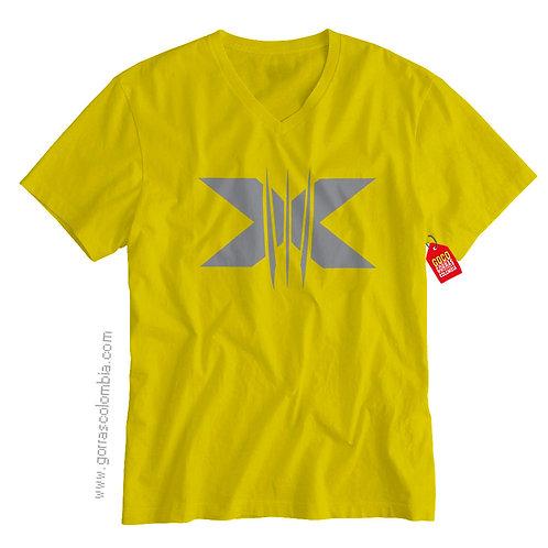 camiseta amarilla de superheroes xmen