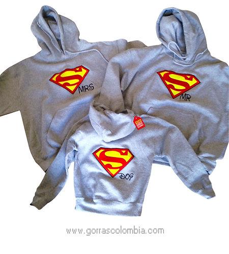 busos grises con capota para familia superman