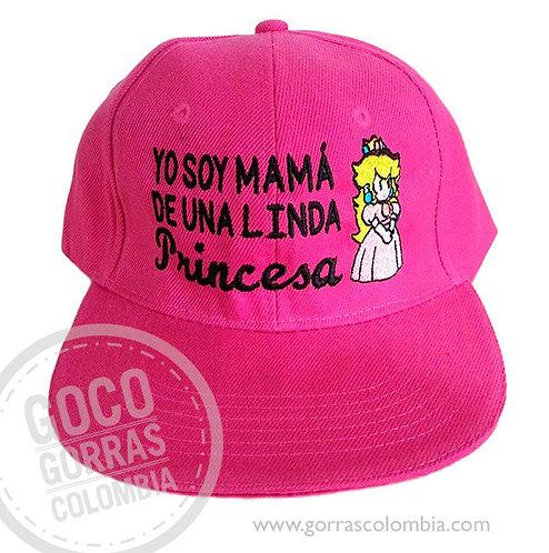 gorra fucsia unicolor personalizada mama de una linda princesa