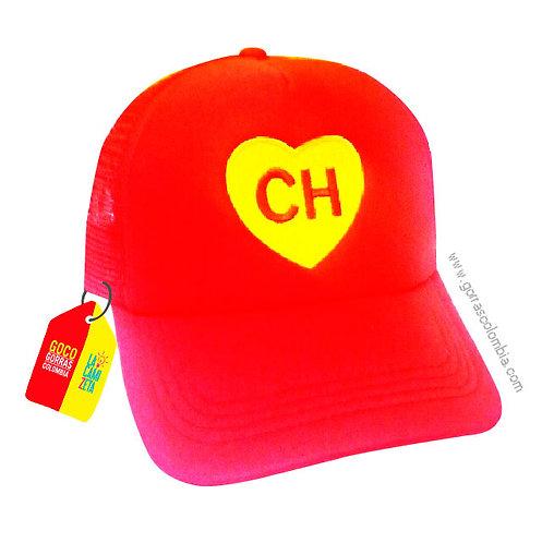 gorra roja unicolor de superheroes chapulin