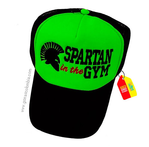 gorra negra frente verde personalizada spartan in the gym