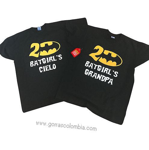 camisetas negras para fiesta batgirl