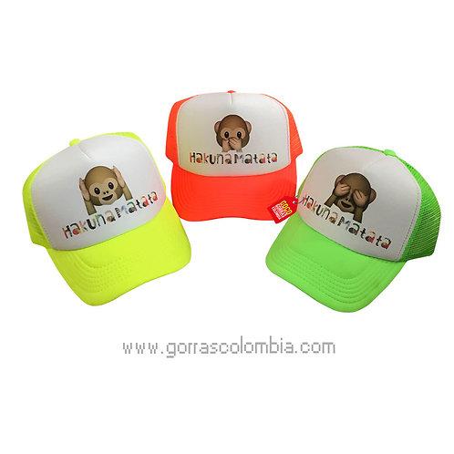 gorras para amigas hakuna matata emoji mono
