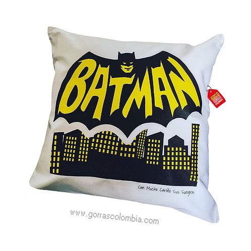 cojin blanco personalizado batman