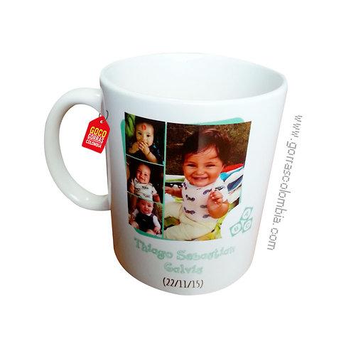 mug blanco personalizado con foto