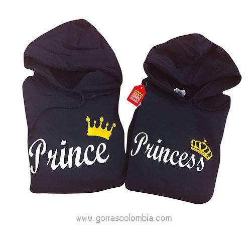 busos negros con capota para pareja prince y princess