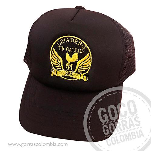 gorra cafe unicolor personalizada gallera