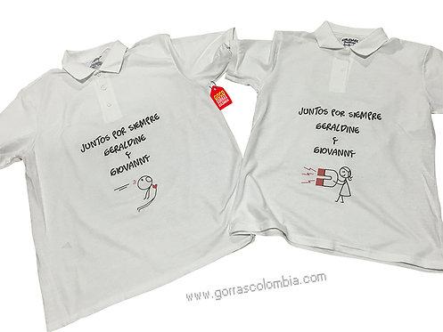 camisetas blancas para pareja de juntos por siempre