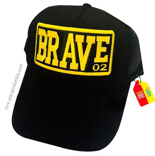 gorra negra unicolor personalizada brave