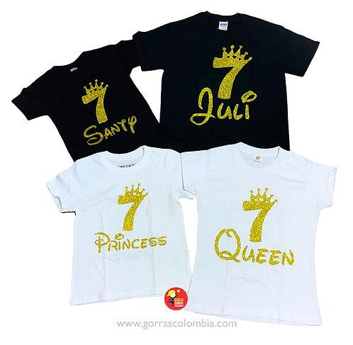 camisetas negras y blancas para familia cumpleanos