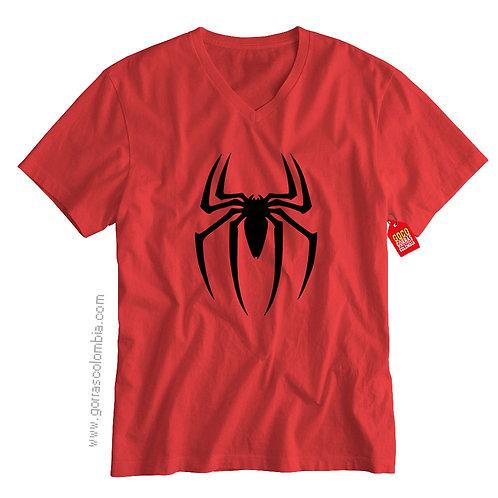 camiseta roja de superheroes spiderman