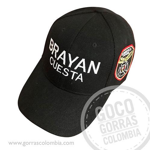 gorra negra unicolor personalizada bomberos