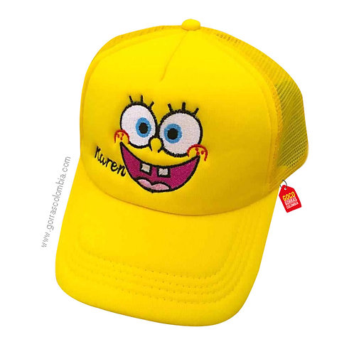 gorra amarilla unicolor para niña bob esponja