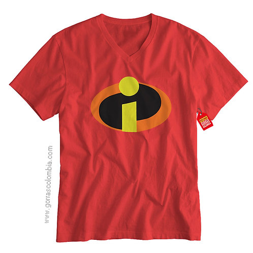 camiseta roja de superheroes los increibles