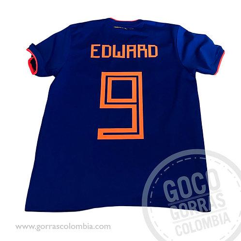 camiseta azul personalizada futbol