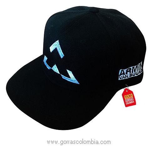gorra negra unicolor personalizada armin