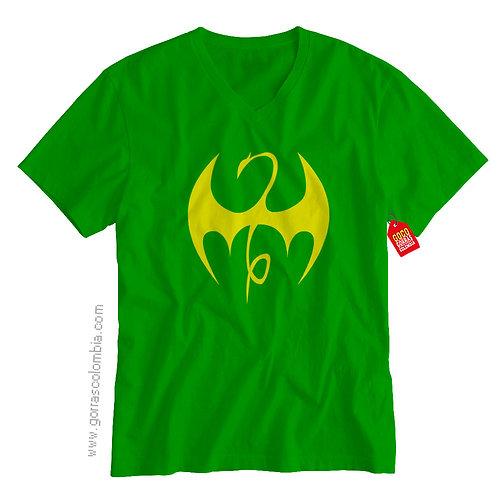 camiseta verde de superheroes puño de hierro