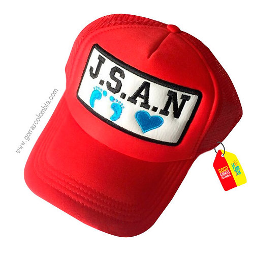 gorra roja unicolor para niño bebe