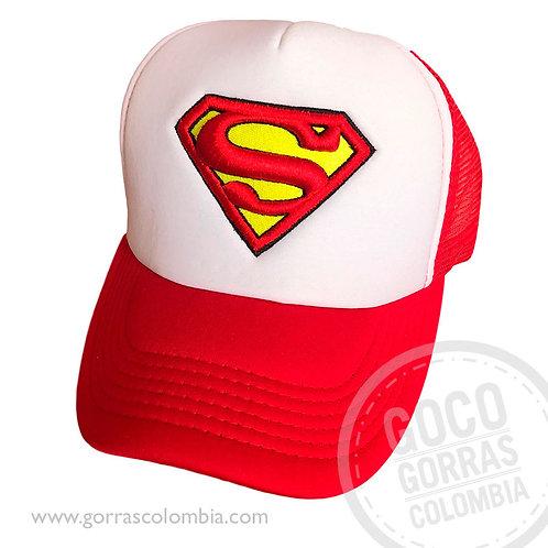 gorra roja frente blanco personalizada superman