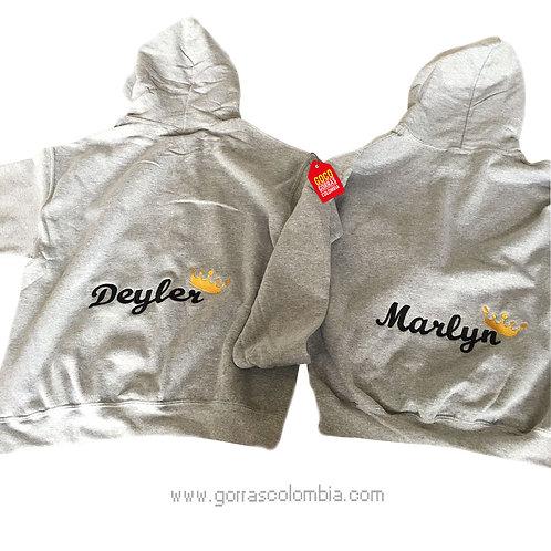 busos grises con capota para pareja nombres con corona