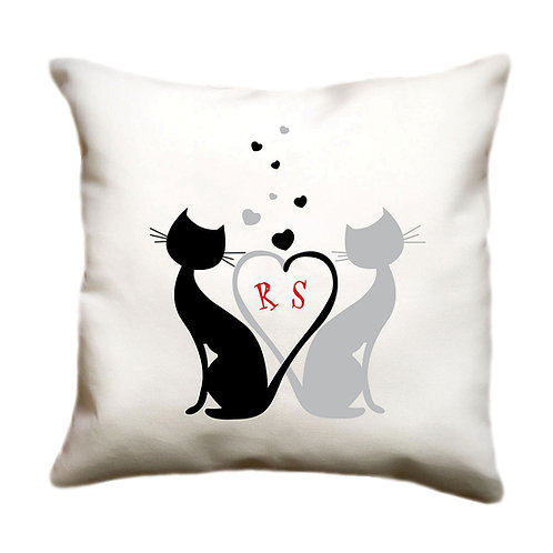cojin blanco personalizado gatos
