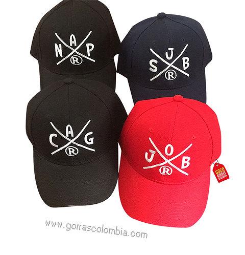 gorras negra y roja unicolor para fiesta grupo r