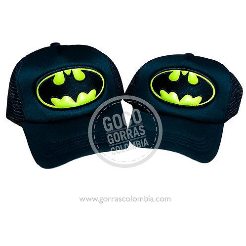 gorras negras unicolor para familia batman