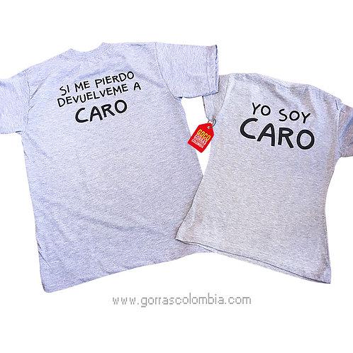 camisetas grises para pareja devuelveme