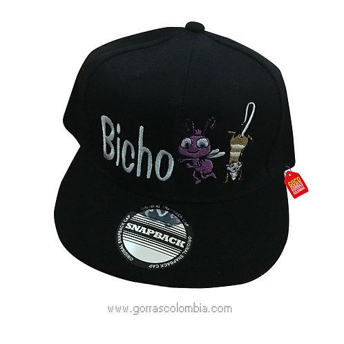 gorra negra unicolor personalizada bicho