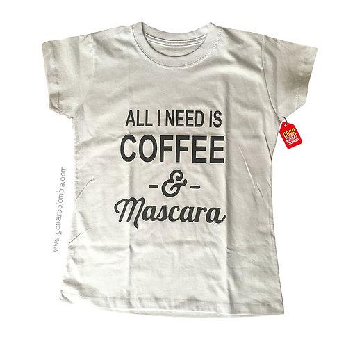camiseta blanca personalizada coffee