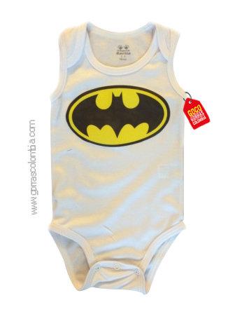 body blanco para bebe de batman