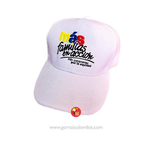 gorra blanca unicolor personalizada familias en accion