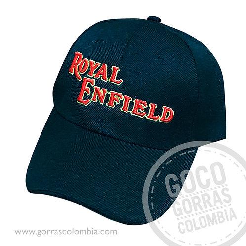 gorra negra unicolor personalizada royal enfield