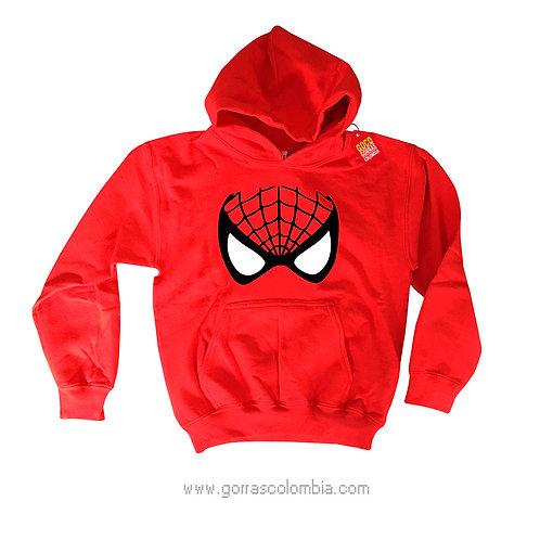 buso roja con capota para niño spiderman