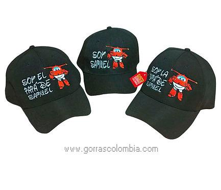 gorras negras unicolor para familia helicoptero