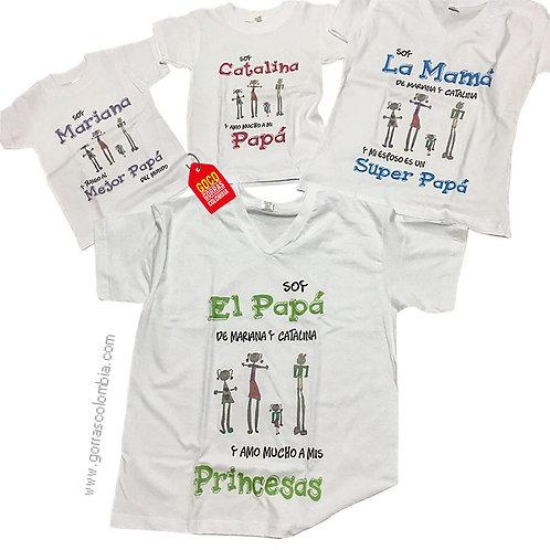 camisetas blancas para familia papa