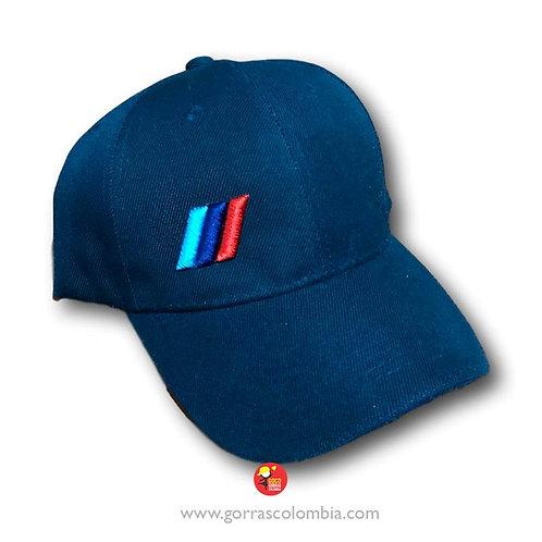gorra azul unicolor personalizada logo bmw