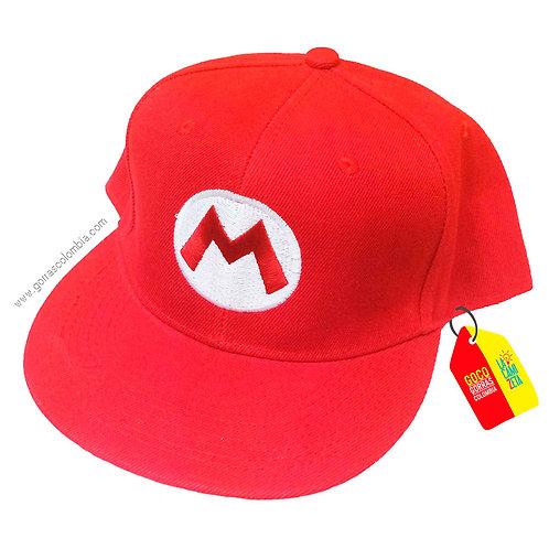 gorra roja unicolor de superheroes super mario