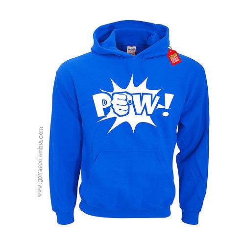 buso azul con capota para niño pow