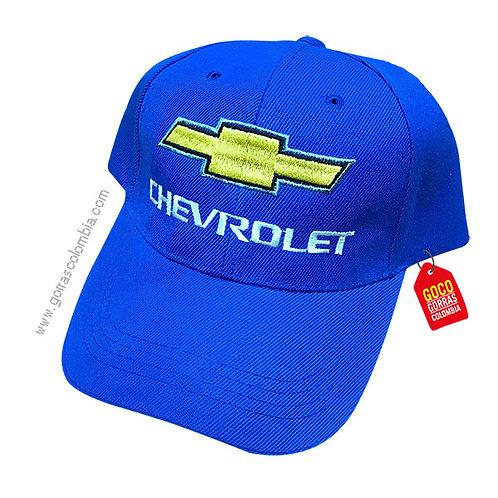 gorra azul unicolor personalizada chevrolet