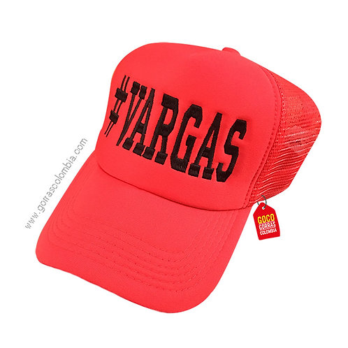 gorra roja unicolor personalizada apellido