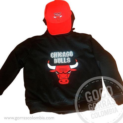 buso negro y gorra roja personalizado chicago bulls