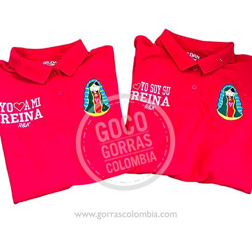 camisetas rojas para familia reina virgen de guadalupe