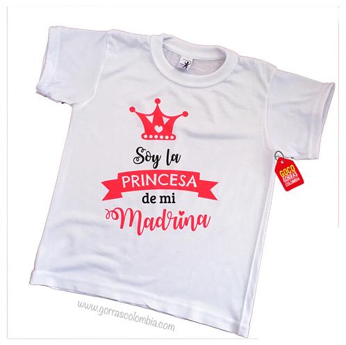 camiseta blanca para niña princesa de la madrina