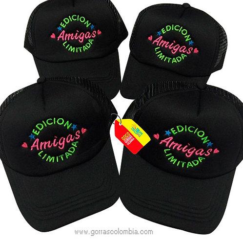 gorras negras unicolor para amigas edicion limitada