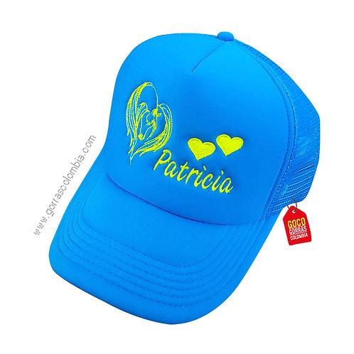 gorra azul unicolor personalizada angel