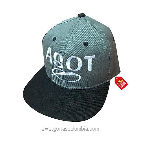 gorra gris unicolor personalizada asot