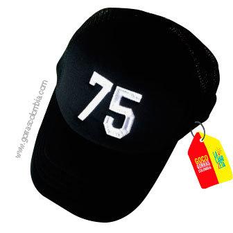 gorra negra unicolor personalizada numero